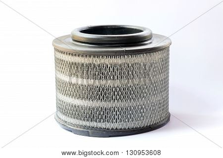 Air filters for diesel cars isolated on white background.
