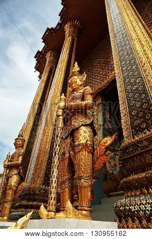 Glazed tile giant statue in Wat Phra kaew