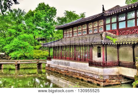 Humble Administrator's Garden, the largest garden in Suzhou, China. UNESCO heritage site.