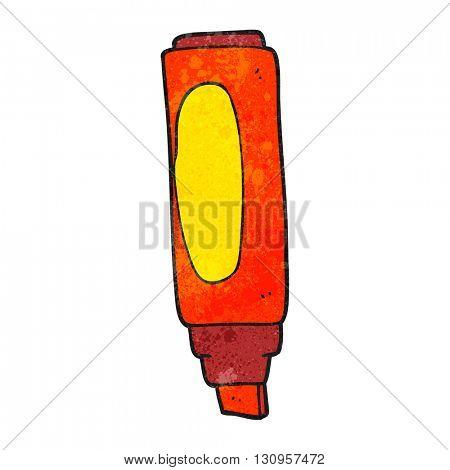 freehand textured cartoon marker pen