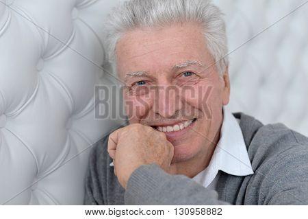 Portrait of a happy senior man face