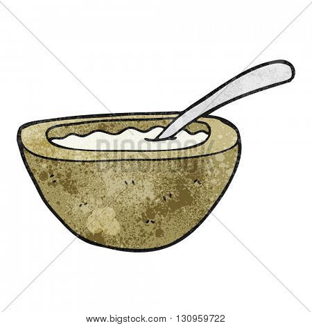 freehand textured cartoon porridge