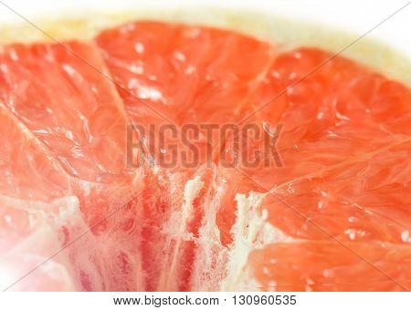 Fresh ripe grapefruit cut for healthy eating
