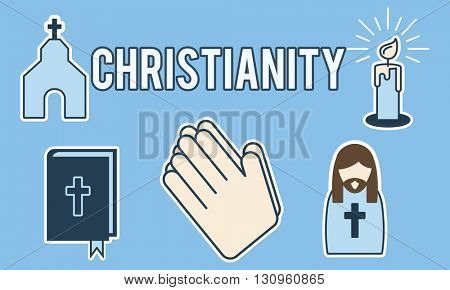 Christianity Church Cross Crucifix Faith Religion Concept