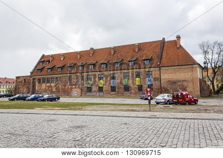 ELBLAG, POLAND - APRIL 8: Archaeological and Historical Museum located in the center of Elblag on April 8, 2012 in Elblag.