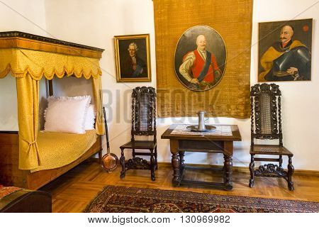 BEDOMIN, POLAND - AUGUST 14: Interior of the Museum of the Polish National Anthem on August 14, 2011 in Bedomin.