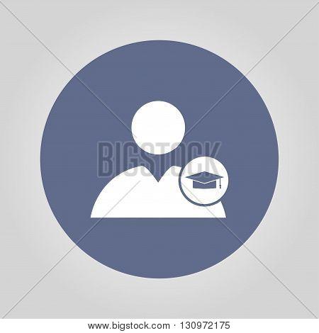 User icon Graduation cap. Flat design style eps 10