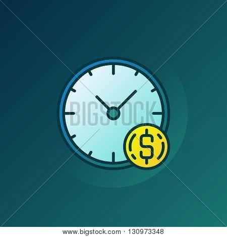 Time is money illustration - vector finance concept symbol or sign