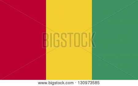 Guinea flag image for any design in simple style
