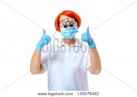 Doctor Wearing Surgical Instrument And Mask