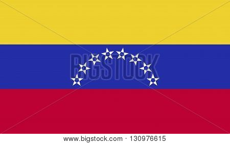 Venezuela flag image for any design in simple style