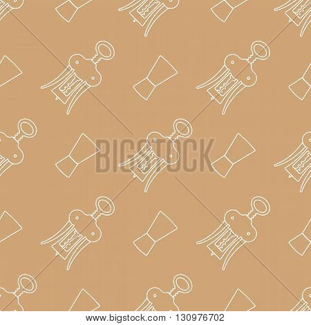 Barman Equipment Contour Seamless Pattern.