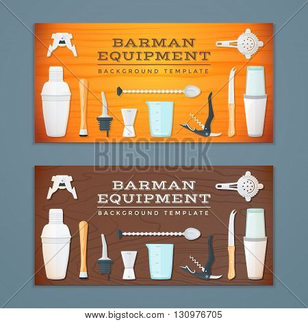 Barman Tools Banner Backdrops Templates.
