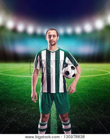Football-player with a ball