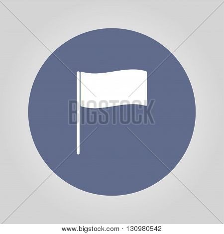 Flag icon. Location marker symbol. Flat design style