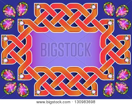 illustration background frame with beautiful Celtic ornaments wi