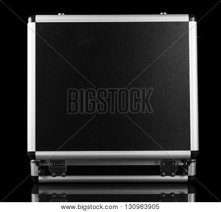 Indoor case with a professional make-up isolated on a black background.