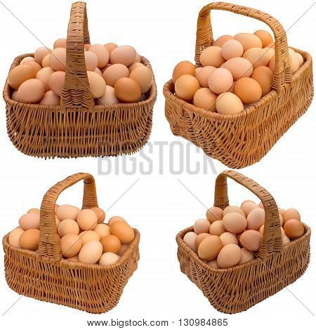 Food egg basket chicken eggshell breakfast easter healthy ingredient fresh.