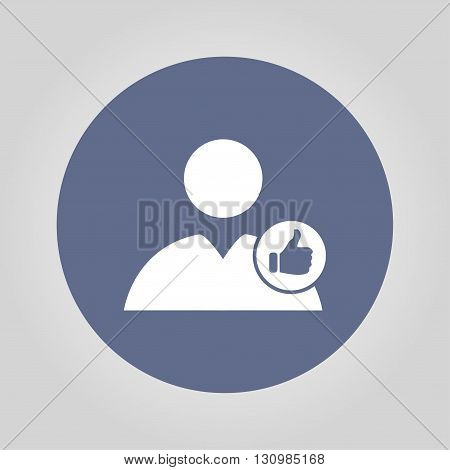User icon vector like. Vector illustration EPS