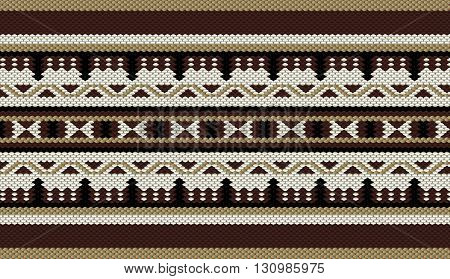 Classic Colors Sadu Weaving Traditional Rug Pattern
