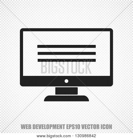 The universal vector icon on the web design theme: Black Monitor. Modern flat design. For mobile and web design. EPS 10.