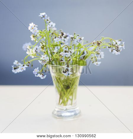 Forget-me-not Blue Flowers Bouquetc