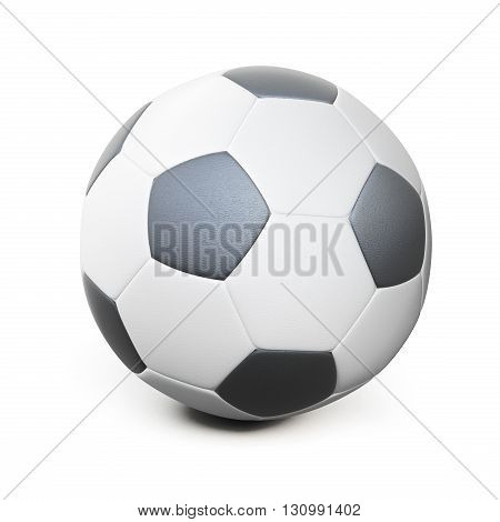 Soccer ball isolated on white background. 3d rendering.