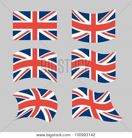 Great Britain Flag. Set National Flag Of British State. State Symbols Of Great Britain And Northern