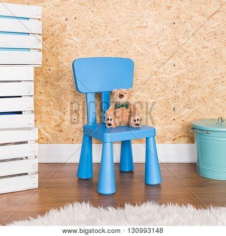 Little Blue Chair For Little Man