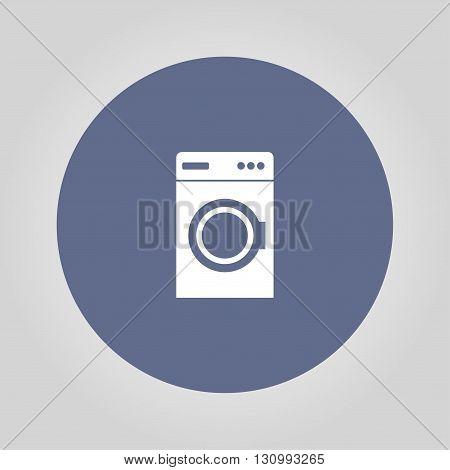 washing machine icon. Flat design style eps 10