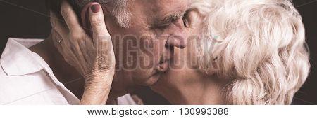 Kissing Husband Tenderly