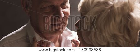Intimate Senior Couple