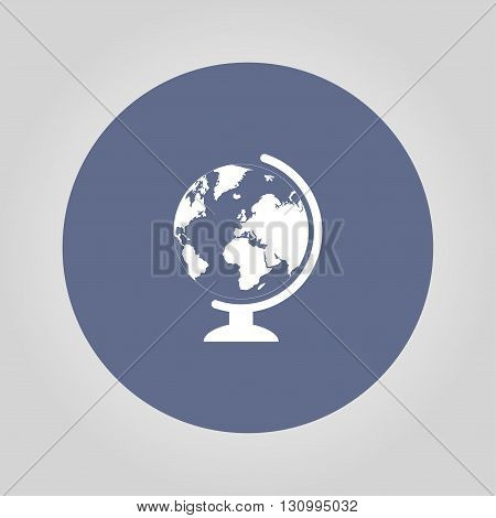 geography school earth globe web icon. vector illustration