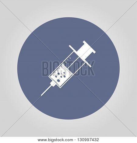 Medical syringe. Flat design style eps 10