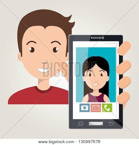 mobile chat design, vector illustration eps10 graphic