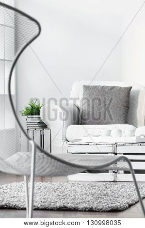 Modern Armchair In Modern Lounge