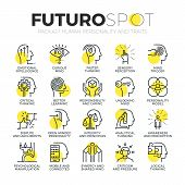 Постер, плакат: Personality Traits Futuro Spot Icons