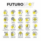 Постер, плакат: Personality Traits Futuro Spot Icons
