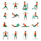 Aerobic Icons. 4X4. Full Color poster