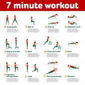 Aerobic Icons. 7 Minute Workout poster