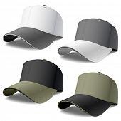 Baseball caps. Vector.