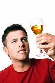 pic of bimbo  - Man is tasting vine - JPG