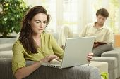 pic of reading book  - Couple at home - JPG