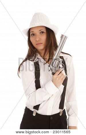 Gangster Hold Gun Up