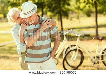 Retired Couple Joyful Positive Aged