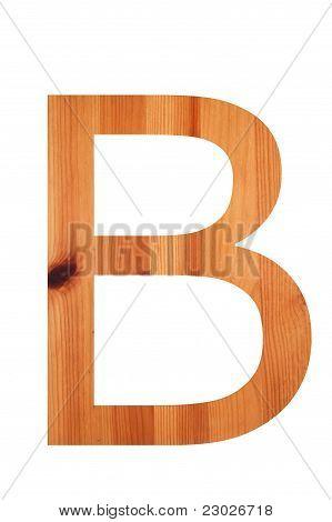 Wood Alphabet  B