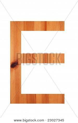 Wood Alphabet E