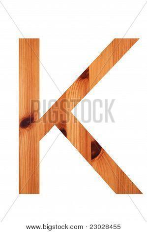 Wood Alphabet K