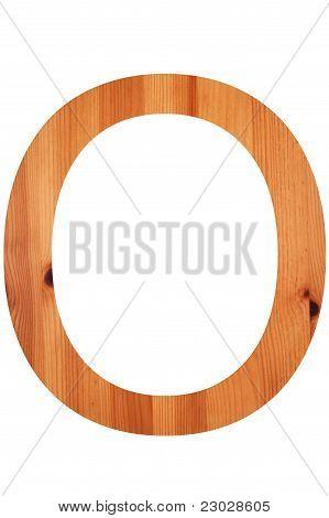 Wood Alphabet O