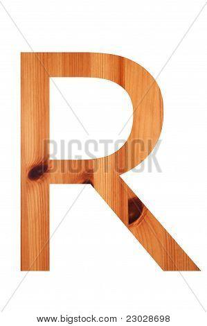 Wood Alphabet R